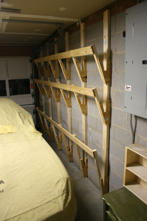 Wood Storage Rack For Garage Plans Diy Free Download
